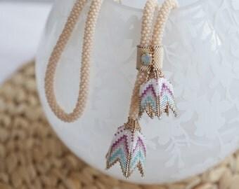 Peyote Tulip Necklace