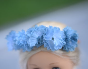 Dusty Blue // fleur crown