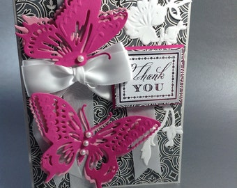 Thank you card, Greeting card, Handmade card