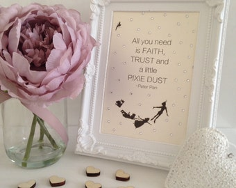 Framed Typography Embellished Quote - Disney II