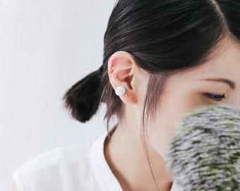 Marble Pattern Concrete Bubble Structure Earrings Ear-clip