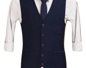 Men's Waistcoat in Navy Blue