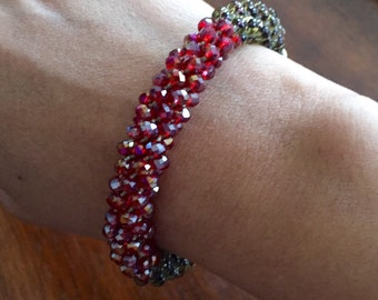 Handmade braided beads bracelet by Tailor and Flair!