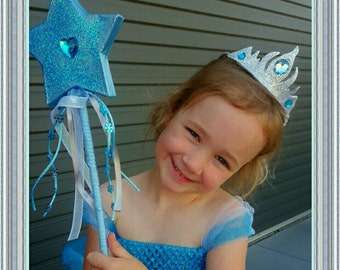Princess Frozen Crown and Wand