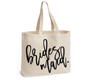 Bridesmaid Tote, Bridal Tote, Bridesmaid Gift, Bridal Party Totes, Bridesmaid Tote Bag, Wedding Bag, Bridal Tote, Bridesmaid Bag
