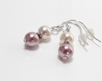 925 Silver earrings shell Pearl Earrings