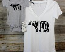 Mama & Baby Bear Shirt Set. Baby Shower Gift. Mama Bear and Baby Bear Shirts. Mothers Day Gift. Mom Daughter shirts. Family Shirts