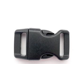 """5/8"""" Contoured Side Release Buckles for Paracord Bracelets (black) *Multiple Variations*"""