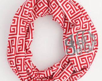 Infinity Monogrammed scarf