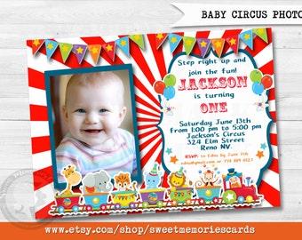 Circus Invitations, Circus Birthday Invitation, Carnival Invitation, Carnival Birthday Invitation, CIRCUS PHOTO