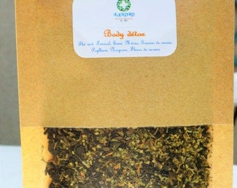 "Herbal tea ""Body détox"" / stimulating herbal tea / herbal cleansing tea / herbal tea / organic tea / herbal detox tea / blend te / herbal tea blend"