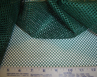 """Mesh Fabric - 50"""" 100% Polyester - Forest Green - Great for Mesh Bags - USA Made"""