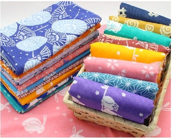"Japanese Traditional Tenugui cloth 100 % cotton towel 13"" wide and 35"" long Ver.B"