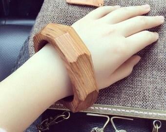 Hand made wood bracelet
