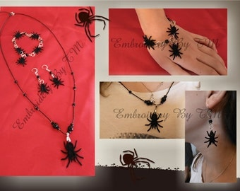 Earrings,pendant and components for bracelet lace spider-FSL-4x4 hoop