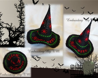 Witch hat lace-free standing lace-4x4 hoop
