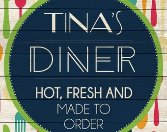 Custom Diner Sign Digital Download