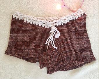 90's knit drawstring shorts