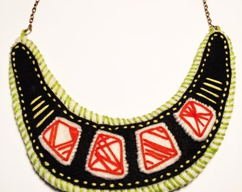 Orange and Green Necklace