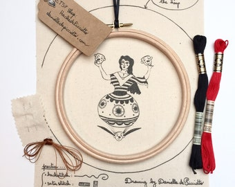 Smile and the world Smiles with You EMBROIDERY KIT