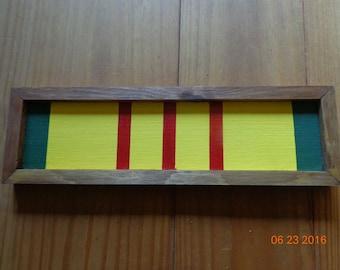 "Extra Large wood Vietnam Service Ribbon 13""x4"""