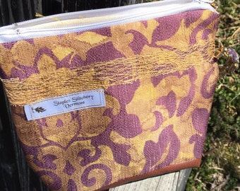 Mini Beach tote/Cosmetic Bag