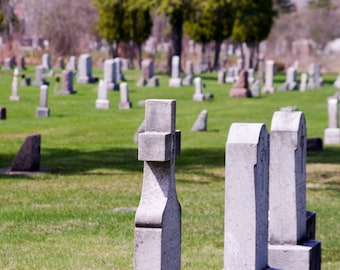 Cemetery photograph,digital download,graveyard,tombstone. downloadable art,monuments,