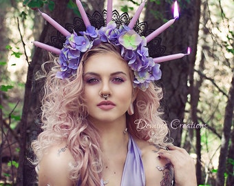 Floral Candle Headdress
