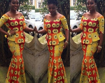 Ankara skirt and blouse set