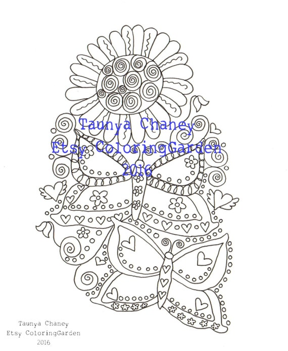 whimsical flower coloring pages - photo#19