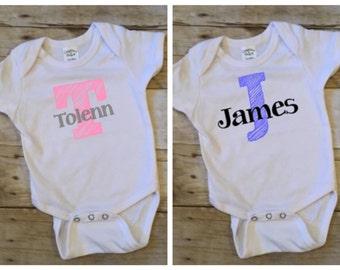 Personalized Sketch Letter - Infant Bodysuit
