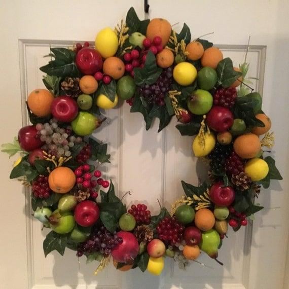 Front Door Wreath Decorative Fruit Wreath Indoor Outdoor