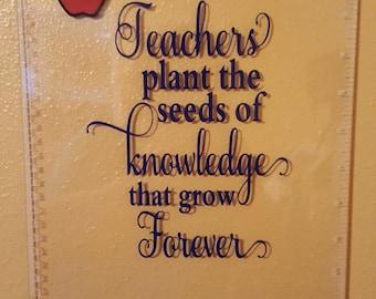 Teachers plant the see clipboard, teacher appreciation