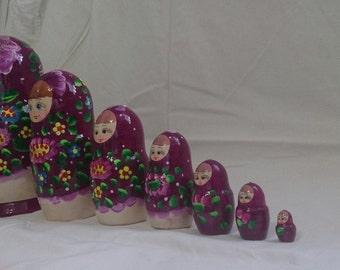 Russian gift wood dolls Matryoshka