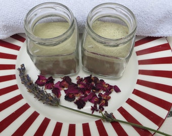 Gentle green herbal and clay facial duo