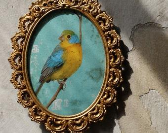 Vintage gold leaf frame