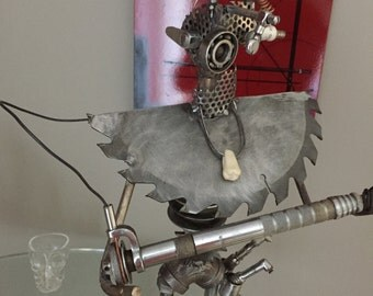 The Dentist - Unique, One of a Kind, Welded Metal Sculpture - Handmade