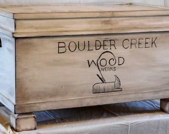 Antiqued Solid Pine Chest