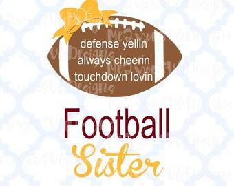 Football Sister SVG,EPS,PNG,Studio