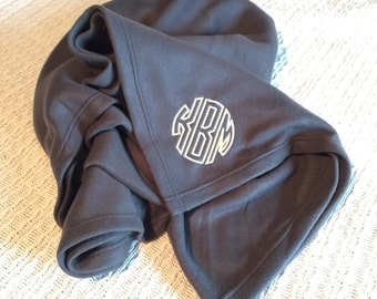 Personalized Fleece Blanket- Monogrammed Fleece Blanket