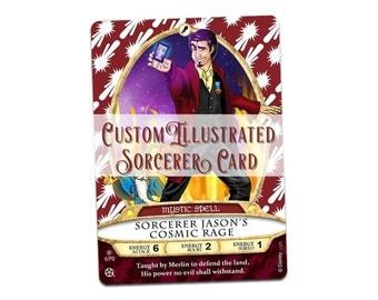 Custom Illustrated Sorcerer Card
