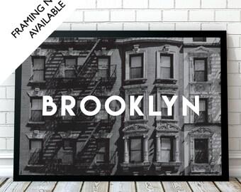 BROOKLYN Travel Wall Art Print | A4/A3/A2