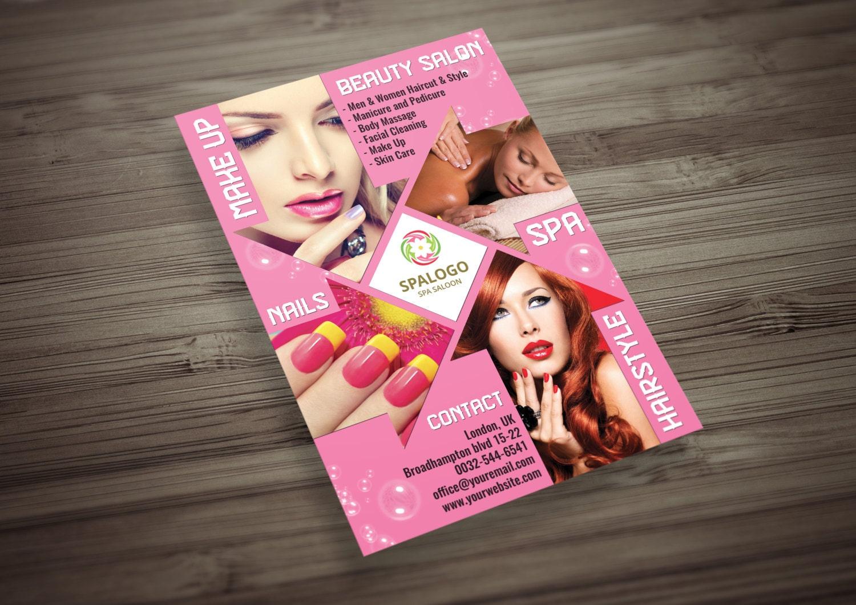 Hair and Beauty Salon Flyer PSD Template