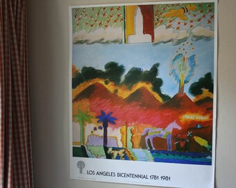 L.A. Bicentennial Poster by Carlos Almaraz - Great L.A. Fire/Fuego