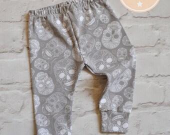 Grey Sugar Skull Leggings