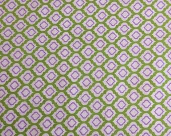 Green and Purple Crib Sheet