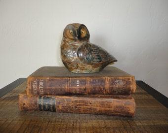 Medium Vintage Ceramic Owl Accessory