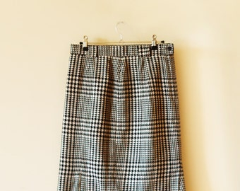 80's Houndstooth Skirt