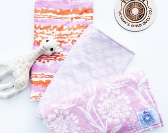 Burp Cloth Gift Set (Orchid) - Burp Cloths, Baby Cloths, Baby Bibs, Baby Accessories, Feeding Cloths, Baby Gifts