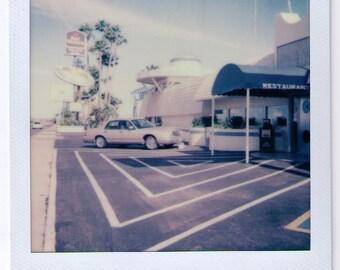 Space Age Polaroid Photo